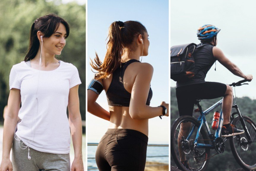 Caminhar, correr ou pedalar